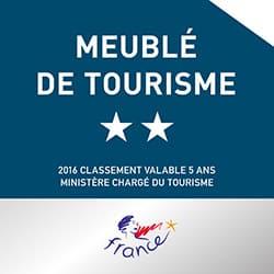 """LA GUYANNE est classée """"Meublé tourisme 2 étoiles""""."""