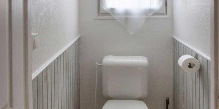 """Les toilettes indépendantes du gîte """"LE FARÉ"""" - LA GUYANNE GIENS"""