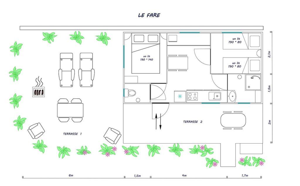 """Plan du gîte """"Le Faré"""""""