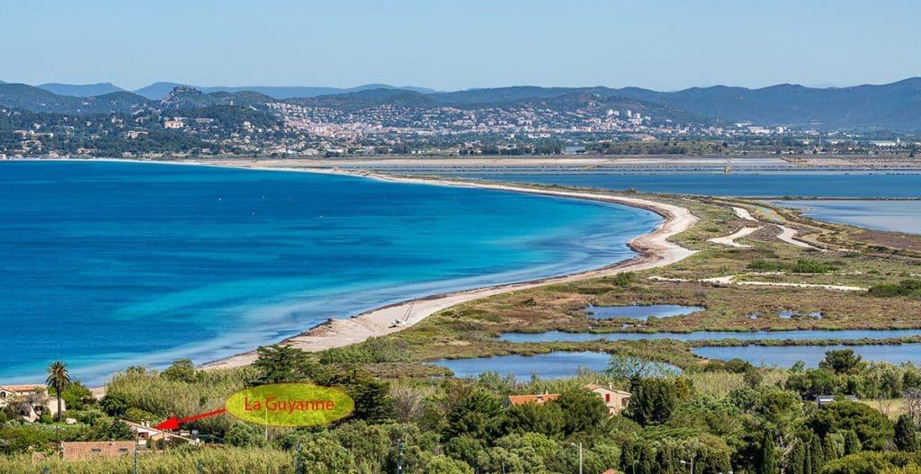 "View of Gîtes ""LA GUYANNE"" 50 meters from Almanarre beach"